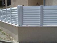 Clôture PVC + Muret béton